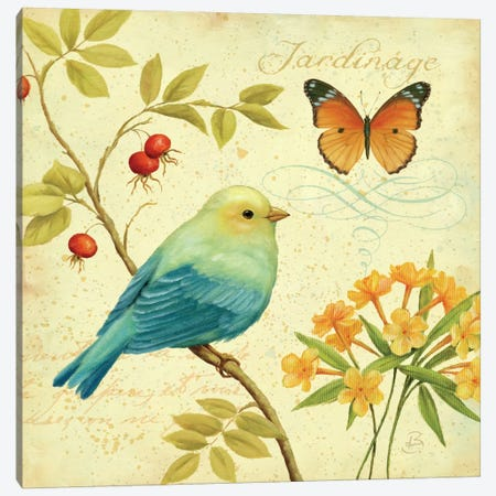 Garden Passion I  Canvas Print #WAC330} by Daphne Brissonnet Canvas Wall Art