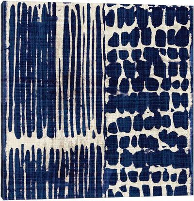 Indigo Batik III Canvas Print #WAC3311