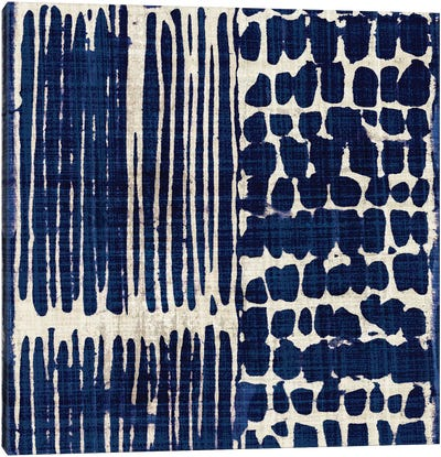 Indigo Batik III Canvas Art Print