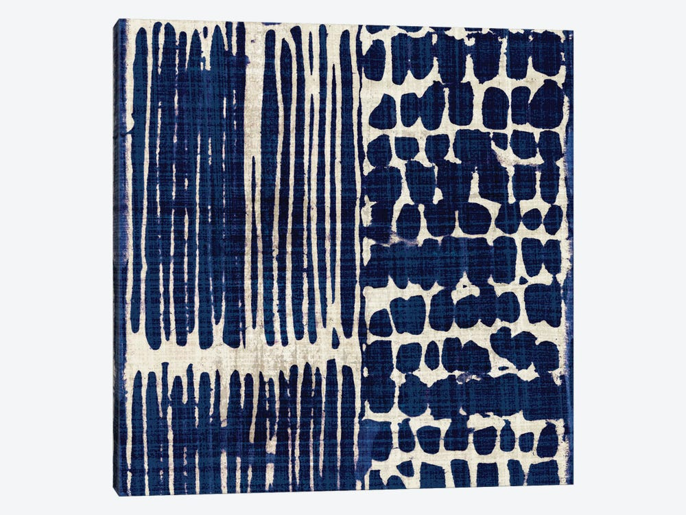 Indigo Batik III by Wild Apple Portfolio 1-piece Canvas Wall Art