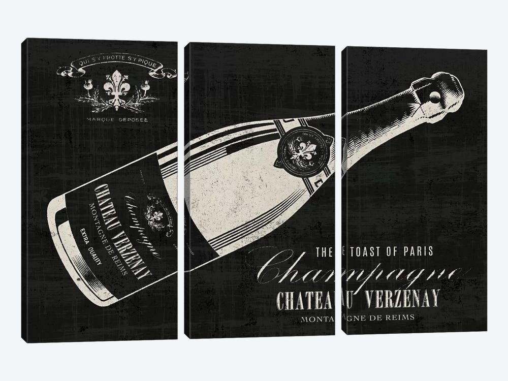 The Toast of Paris by Wild Apple Portfolio 3-piece Canvas Artwork