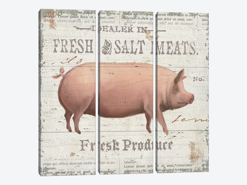 On the Farm I by James Wiens 3-piece Canvas Wall Art