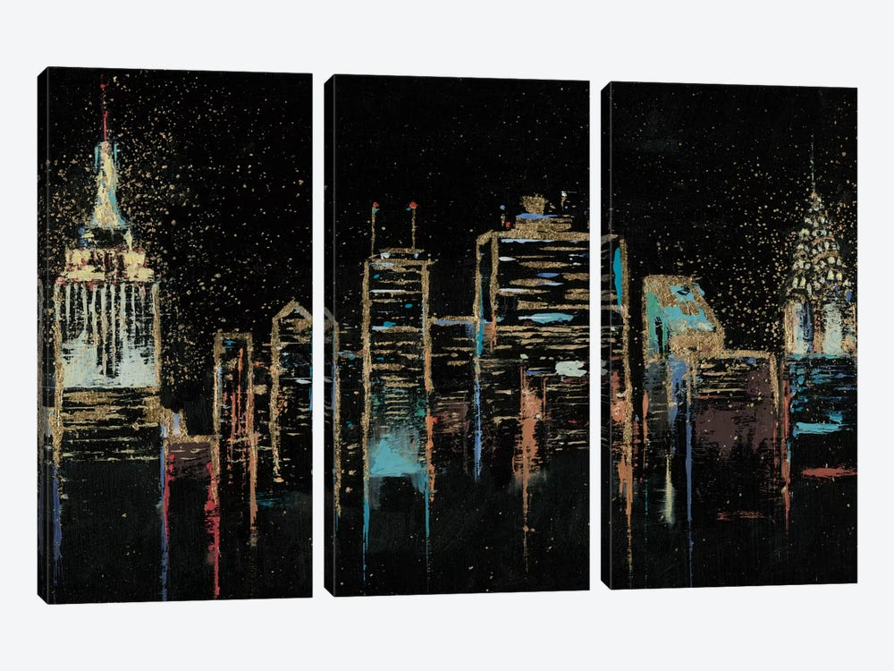 Cityscape by James Wiens 3-piece Canvas Print
