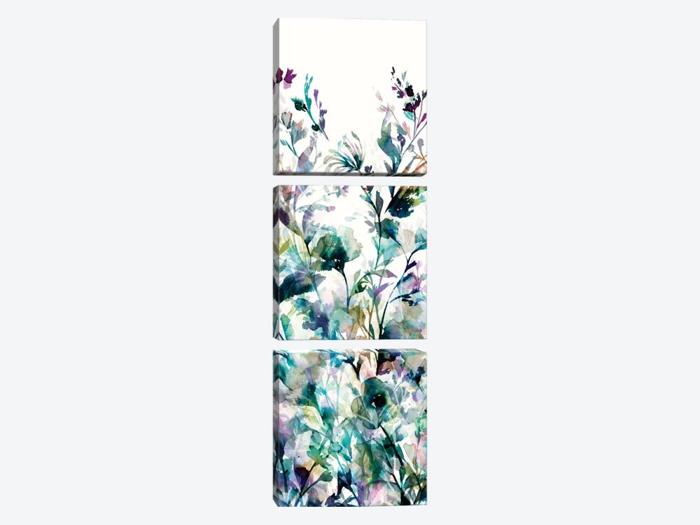 Transparent Garden II - Panel I by Wild Apple Portfolio 3-piece Canvas Artwork