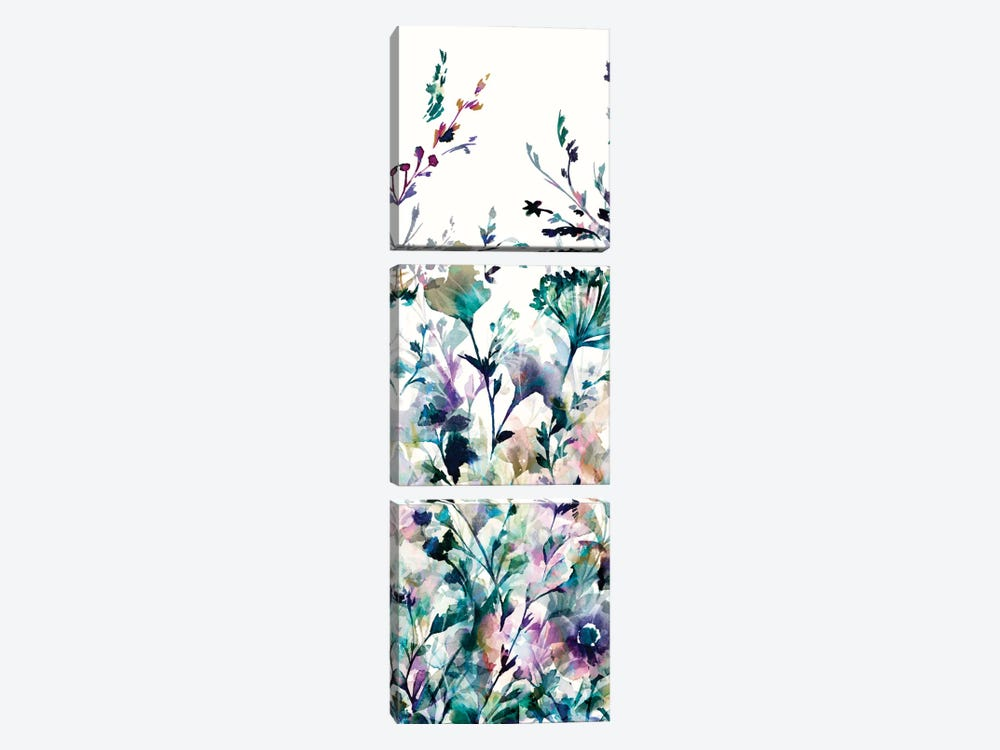 Transparent Garden II - Panel II by Wild Apple Portfolio 3-piece Art Print