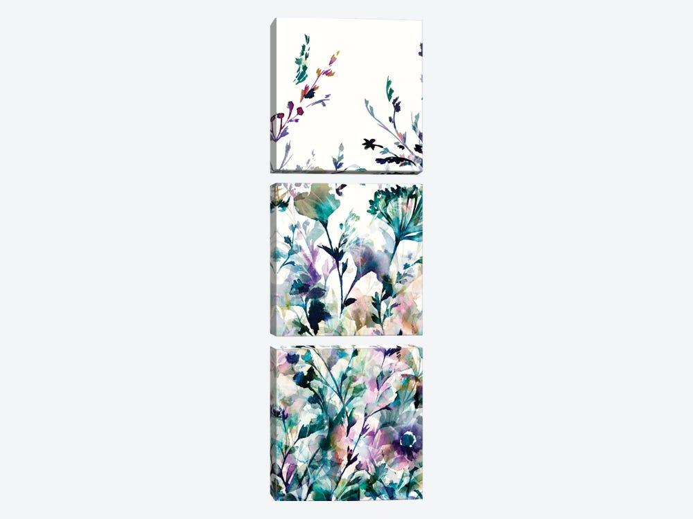 Transparent Garden II - Panel II by Wild Apple Portfolio 3-piece Art Print