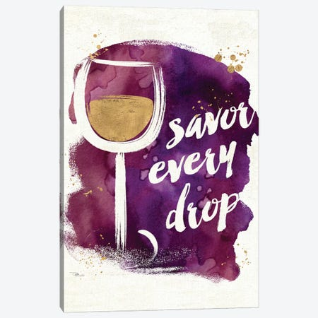 Watercolor Wine I Canvas Print #WAC3328} by Pela Studio Art Print