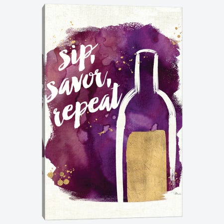 Watercolor Wine II Canvas Print #WAC3329} by Pela Studio Canvas Print