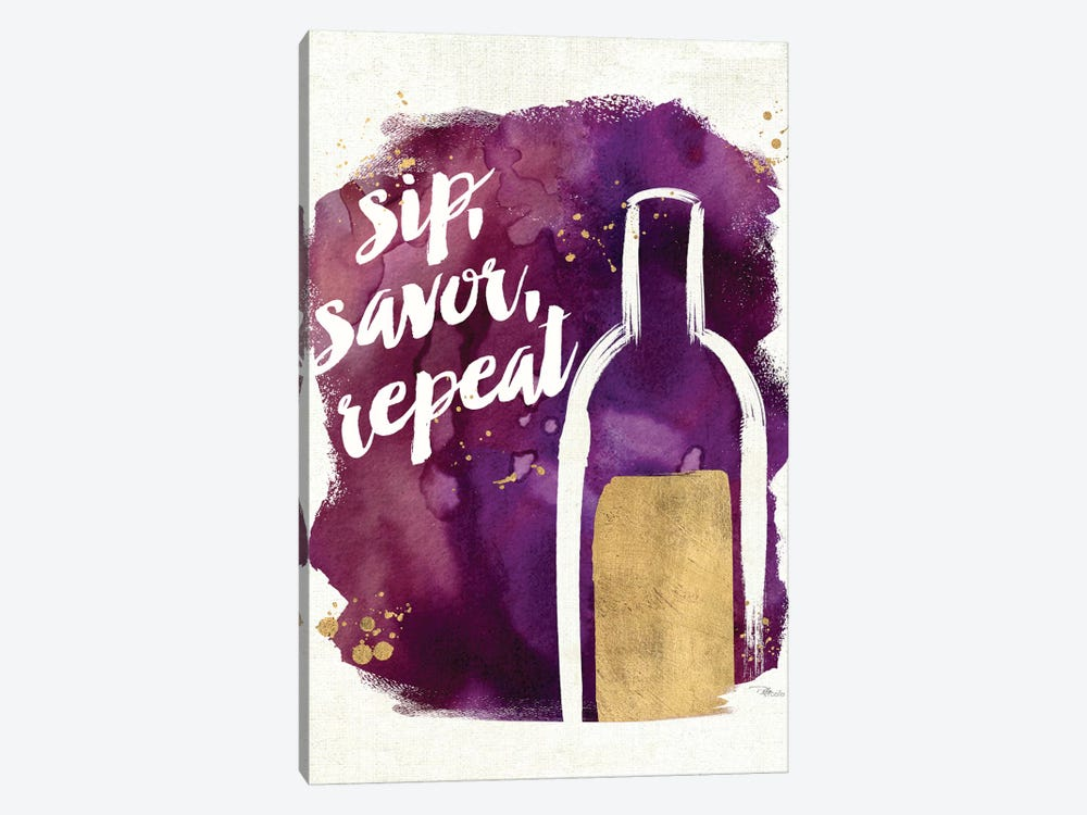 Watercolor Wine II 1-piece Art Print