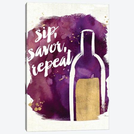 Watercolor Wine II Canvas Print #WAC3329} by Pela Studio Canvas Print