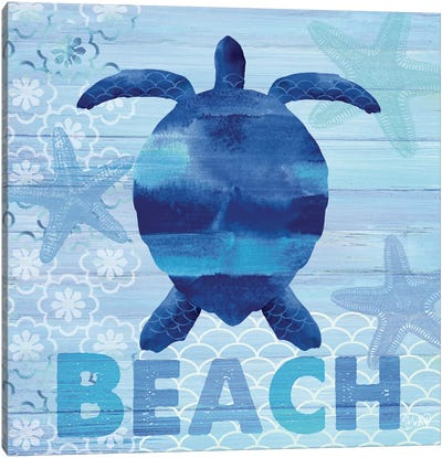Sea Glass Turtle Canvas Art Print