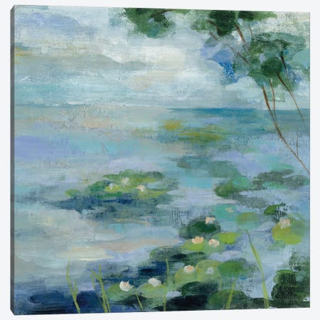 Lily Pond II Canvas Print #WAC3340} by Silvia Vassileva Art Print