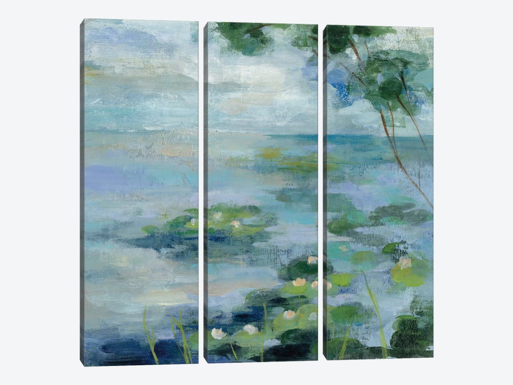 Lily Pond II by Silvia Vassileva 3-piece Canvas Wall Art