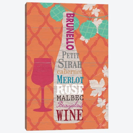 Summer Wine Celebration I Canvas Print #WAC3342} by Studio Bella Canvas Art Print
