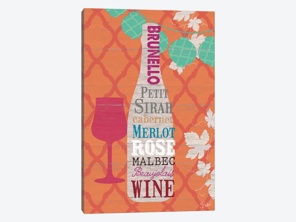 Summer Wine Celebration I by Studio Bella 1-piece Canvas Artwork