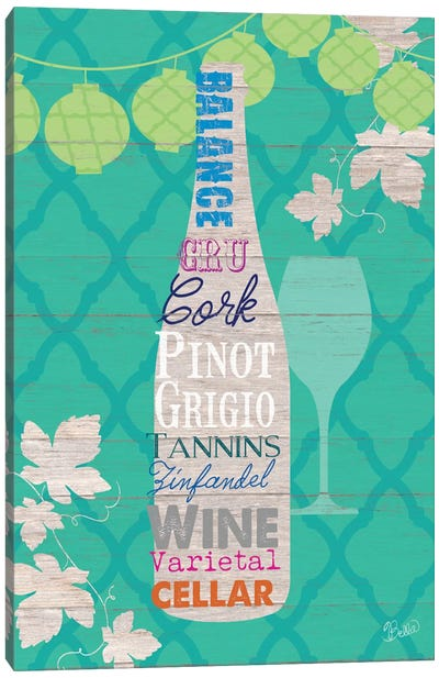 Summer Wine Celebration IV Canvas Art Print