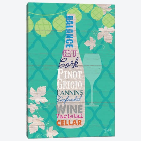 Summer Wine Celebration IV Canvas Print #WAC3345} by Studio Bella Canvas Artwork