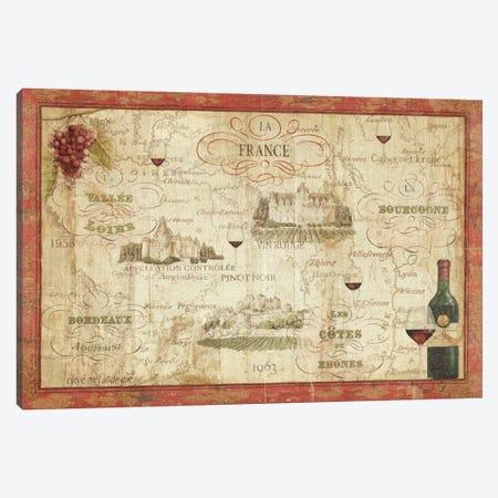 Wine Map Canvas Print #WAC334} by Daphne Brissonnet Art Print