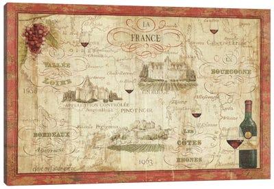 Wine Map Canvas Art Print