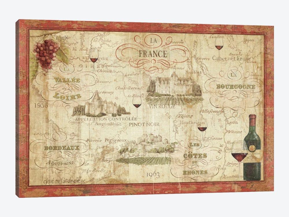 Wine Map by Daphne Brissonnet 1-piece Canvas Art Print