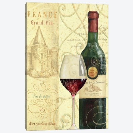 Wine Passion I  Canvas Print #WAC335} by Daphne Brissonnet Canvas Art Print