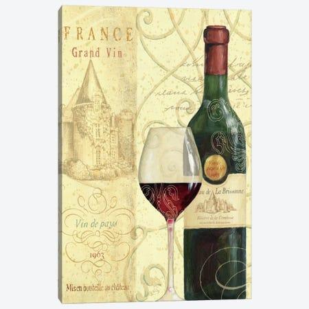 Wine Passion I  Canvas Print #WAC335} by Daphne Brissonnet Canvas Art Print