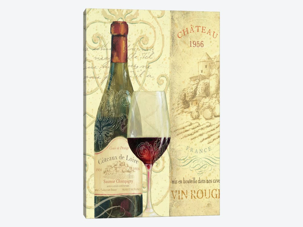 Wine Passion II  by Daphne Brissonnet 1-piece Canvas Print