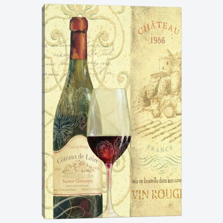 Wine Passion II  Canvas Print #WAC336} by Daphne Brissonnet Art Print