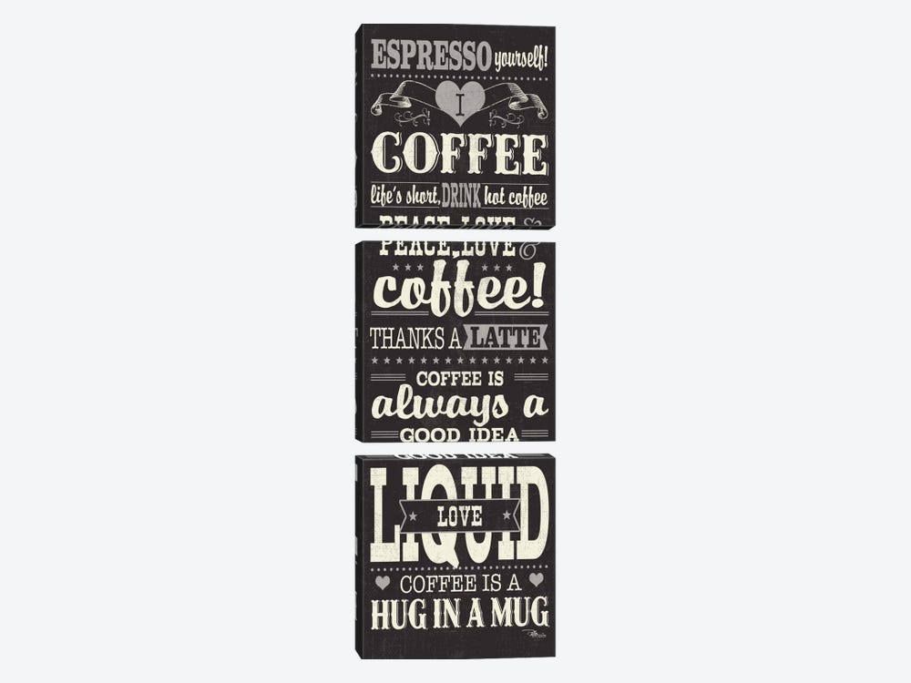 Coffee Lovers II by Pela Studio 3-piece Canvas Art