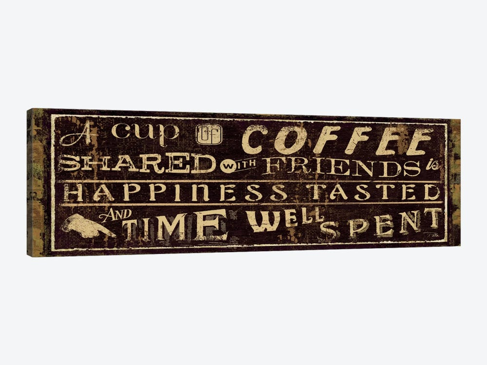 Coffee Quote III by Pela Studio 1-piece Canvas Wall Art