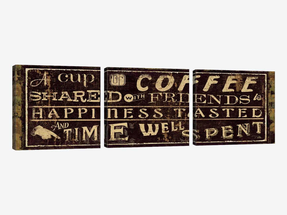 Coffee Quote III by Pela Studio 3-piece Canvas Wall Art
