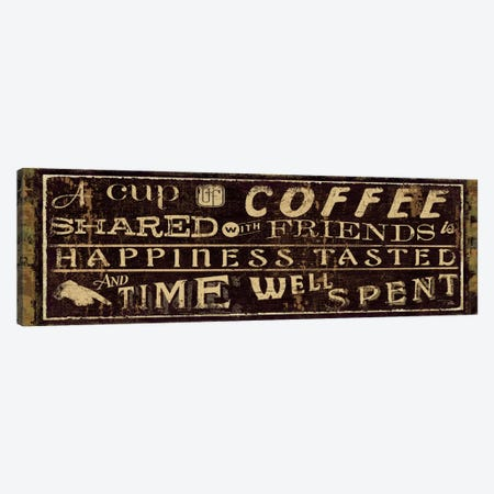 Coffee Quote III Canvas Print #WAC3430} by Pela Studio Canvas Print