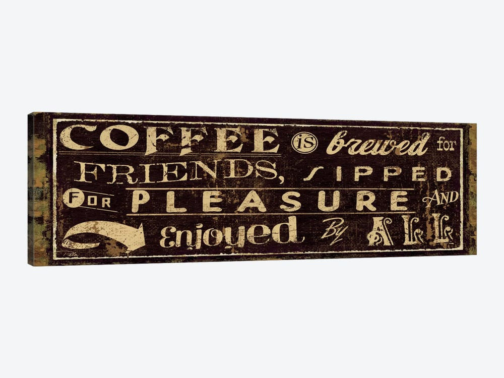 Coffee Quote IV by Pela Studio 1-piece Art Print