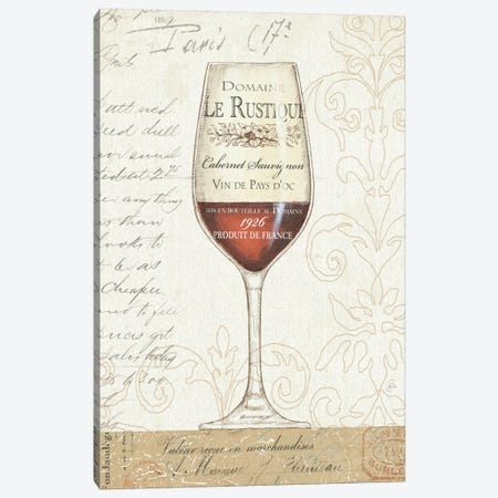 Wine by the Glass I  Canvas Print #WAC346} by Daphne Brissonnet Canvas Art