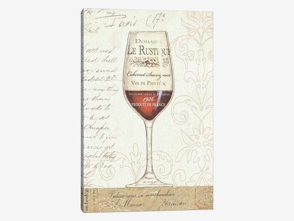 Wine by the Glass I by Daphne Brissonnet 1-piece Canvas Art