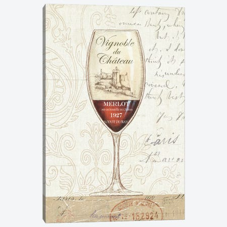 Wine by the Glass II  Canvas Print #WAC347} by Daphne Brissonnet Canvas Art