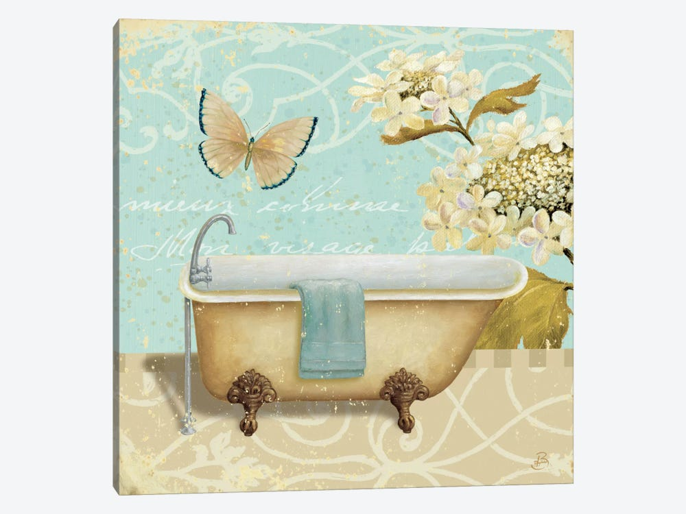 Light Breeze Bath II by Daphne Brissonnet 1-piece Canvas Print