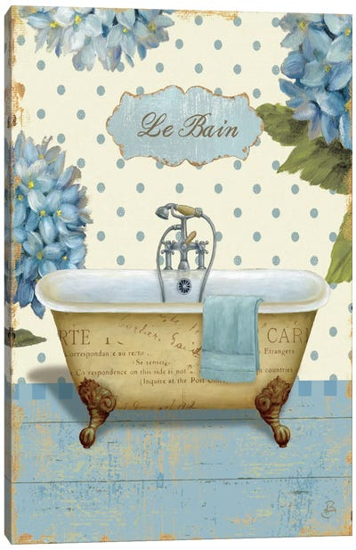 Thinking of You Bath I  Canvas Art Print