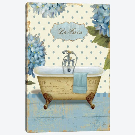 Thinking of You Bath I  Canvas Print #WAC359} by Daphne Brissonnet Canvas Art