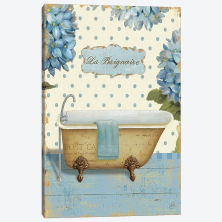 Thinking of You Bath II  Canvas Print #WAC360} by Daphne Brissonnet Art Print