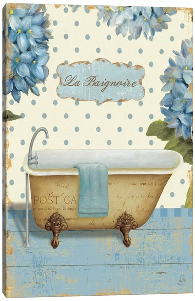 Thinking of You Bath II  Canvas Art Print