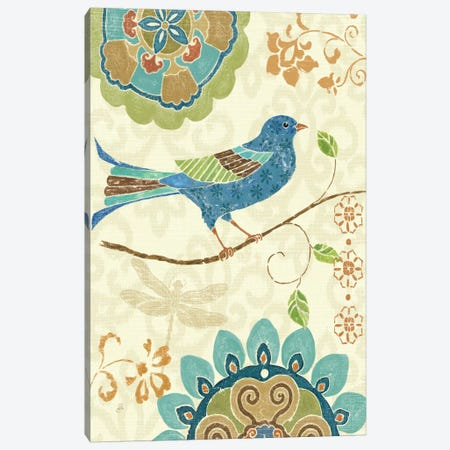 Eastern Tales Birds I  Canvas Print #WAC361} by Daphne Brissonnet Canvas Print