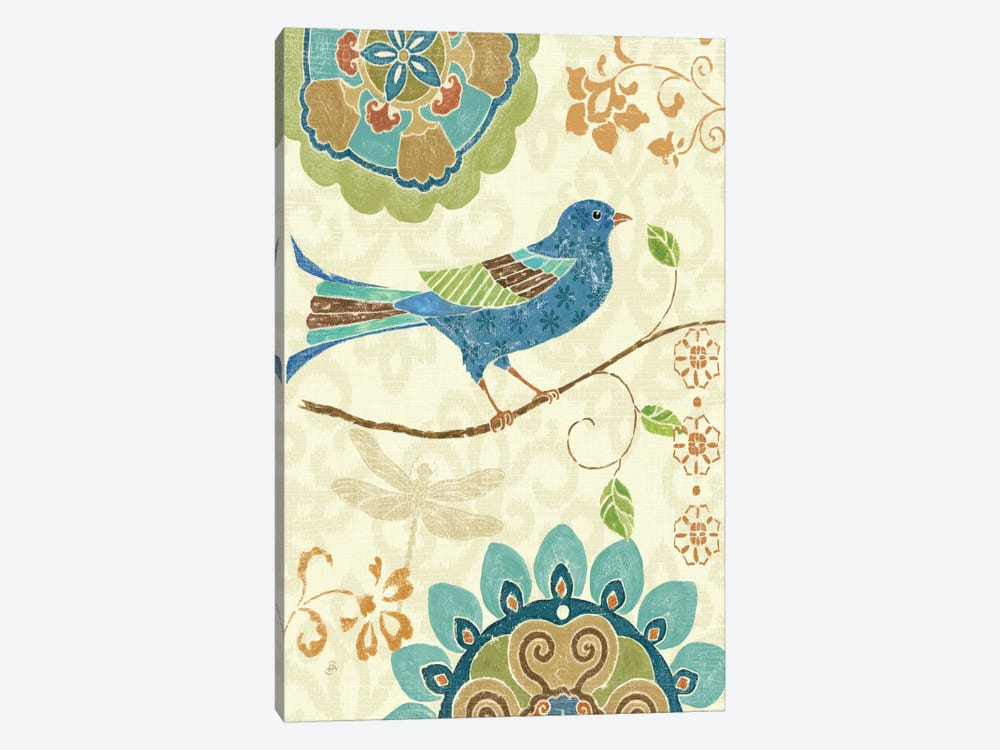 Eastern Tales Birds I by Daphne Brissonnet 1-piece Canvas Print