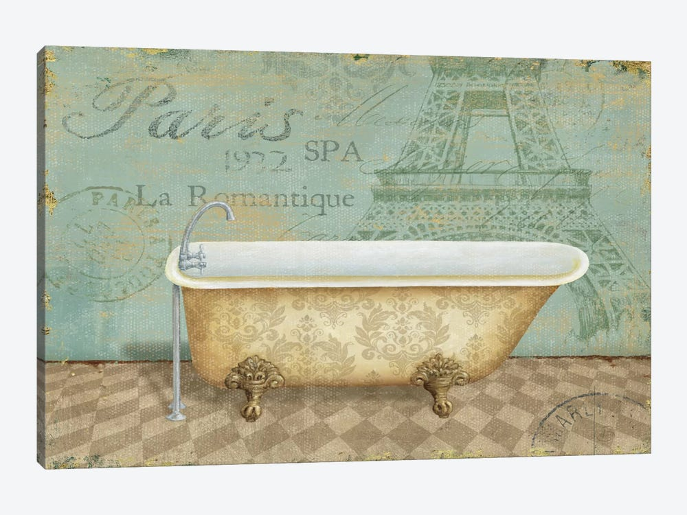 Voyage Romantique Bath I  by Daphne Brissonnet 1-piece Art Print