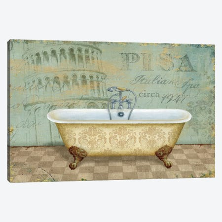 Voyage Romantique Bath II  Canvas Print #WAC366} by Daphne Brissonnet Canvas Art