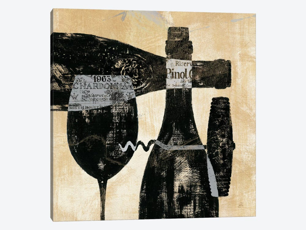 Wine Selection I  by Daphne Brissonnet 1-piece Canvas Art Print