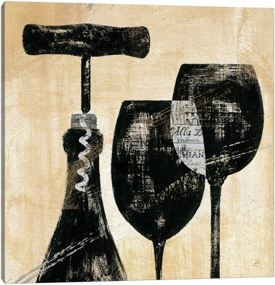 Wine Selection II  by Daphne Brissonnet Canvas Art Print