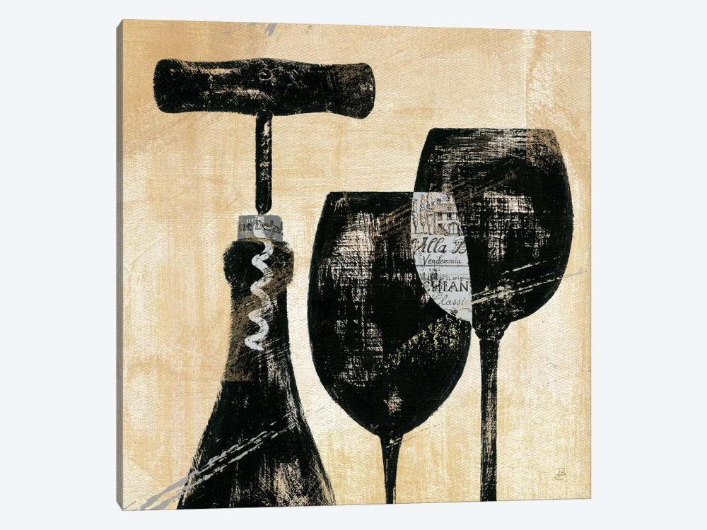 Wine Selection II  by Daphne Brissonnet 1-piece Canvas Art