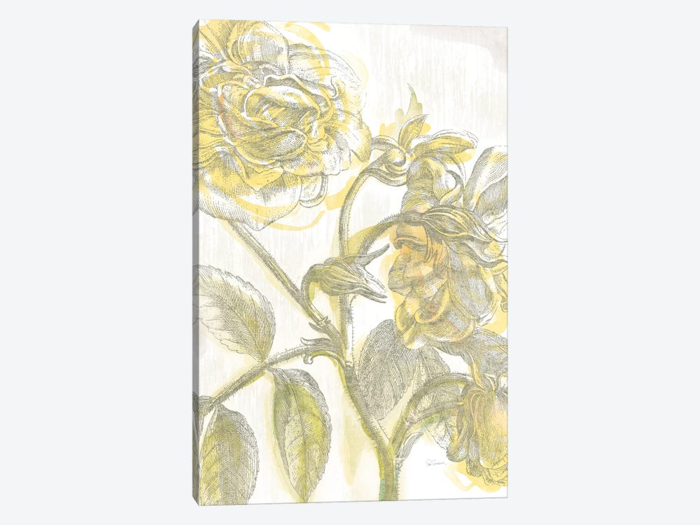 Belle Fleur Jaune I by Sue Schlabach 1-piece Canvas Art Print