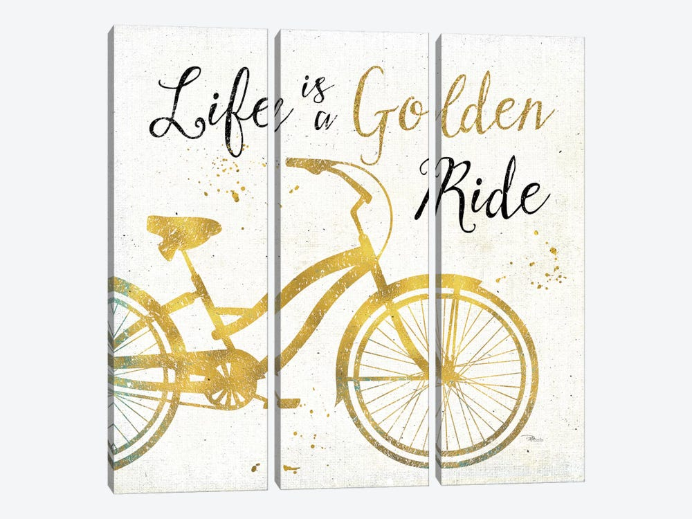 Golden Ride I by Pela Studio 3-piece Canvas Wall Art